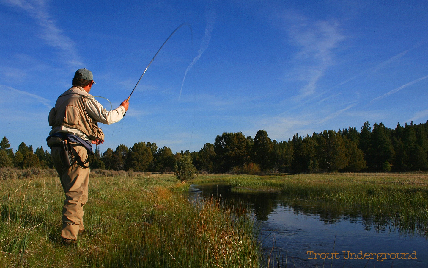 Fly Fishing a Small Stream for Brown Trout or How Knee Pads 1440x900
