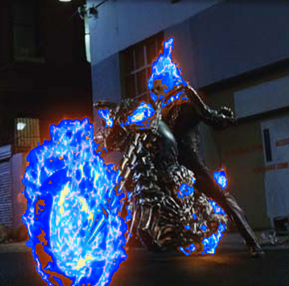 Blue flame ghost rider by bikerrider12 584x578
