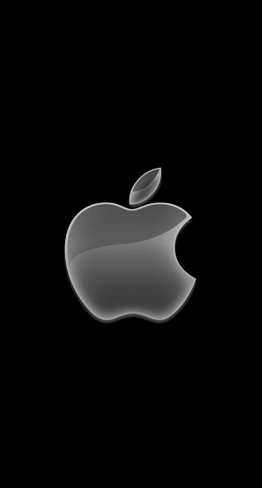 Iphone Black Logo Wallpaper Hd 854x1590