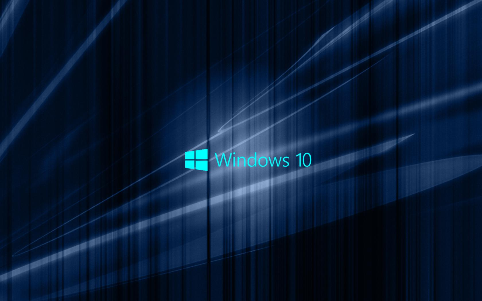 Windows 10 Wallpaper with Blue Abstract Waves HD Wallpapers for 1680x1050
