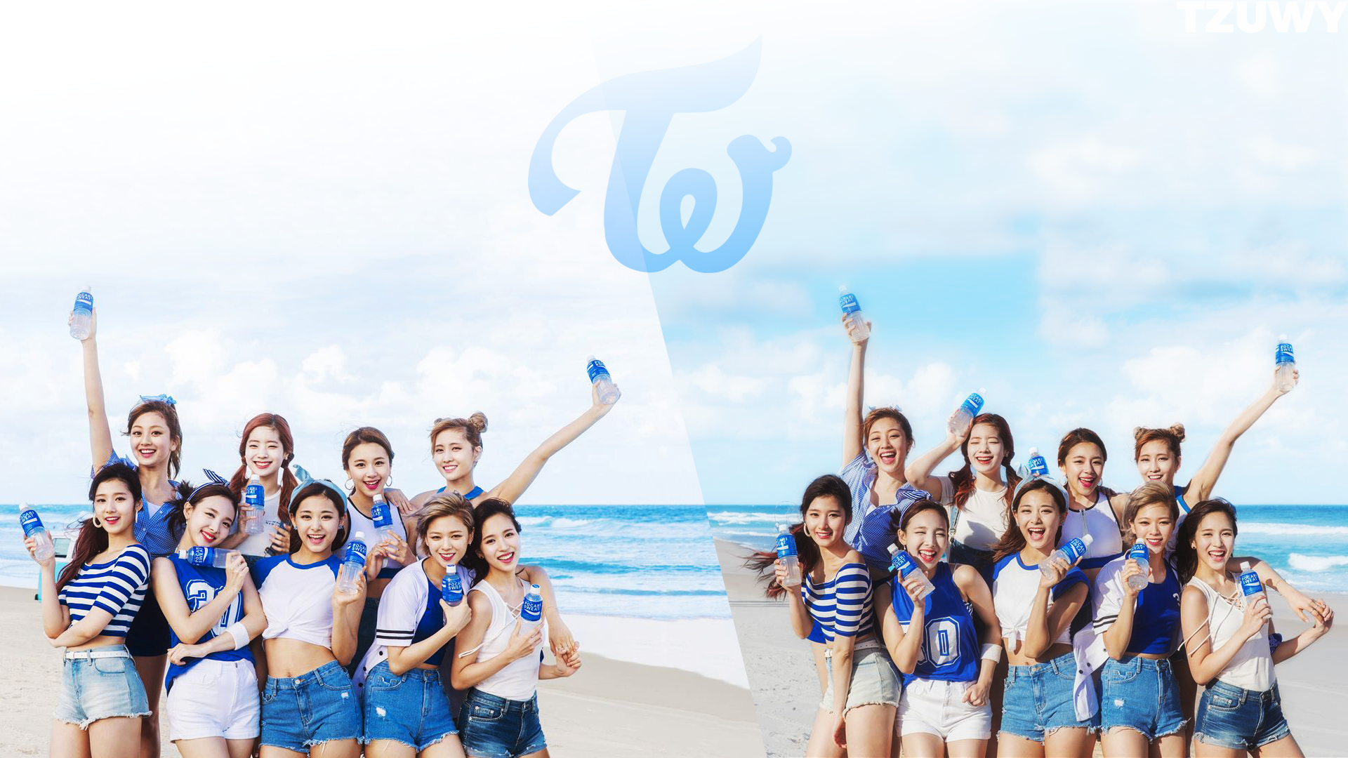 TWICE x Pocari wallpaper 1080p twice 1920x1080