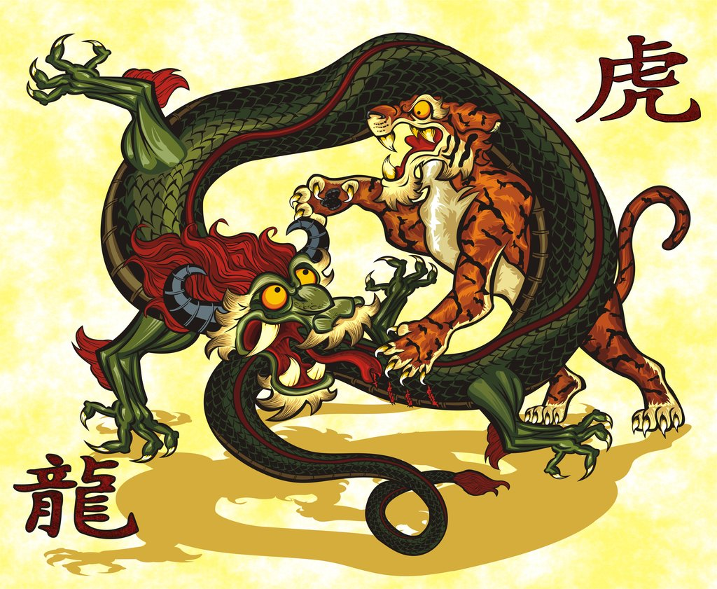 Tiger Vs Dragon Wallpaper  WallpaperSafari