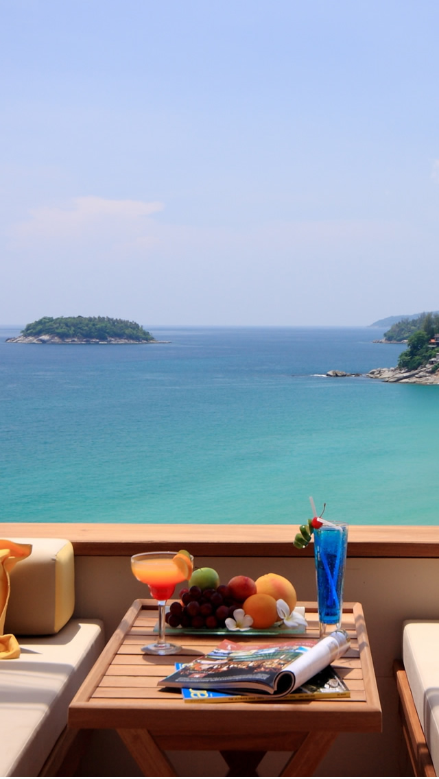 Cool Summer Breakfast Ocean View iPhone 5s Wallpaper Download iPhone 640x1136