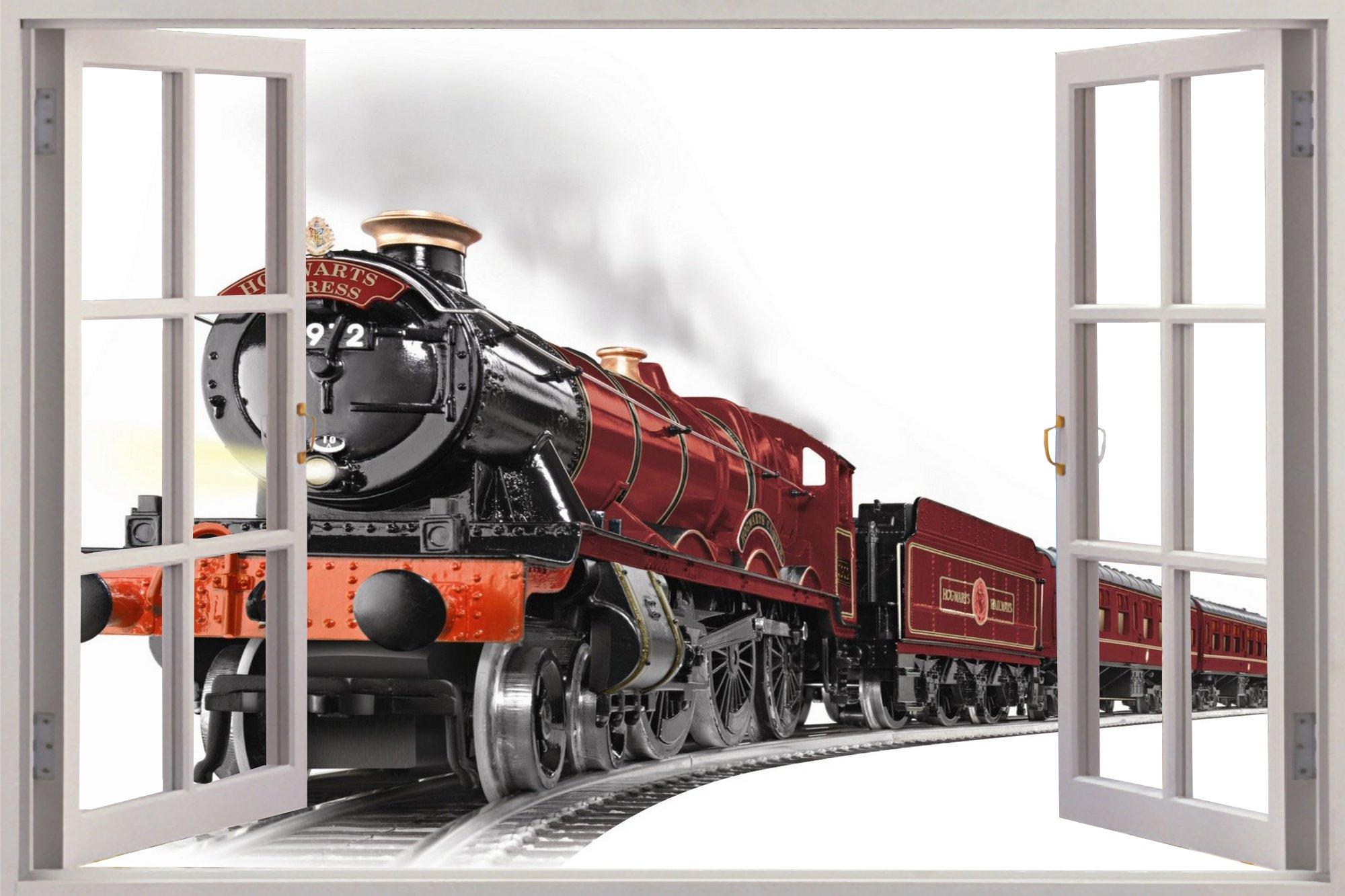 Window Hogwarts Express View Wall Stickers Mural Art Decal Wallpaper 2000x1333
