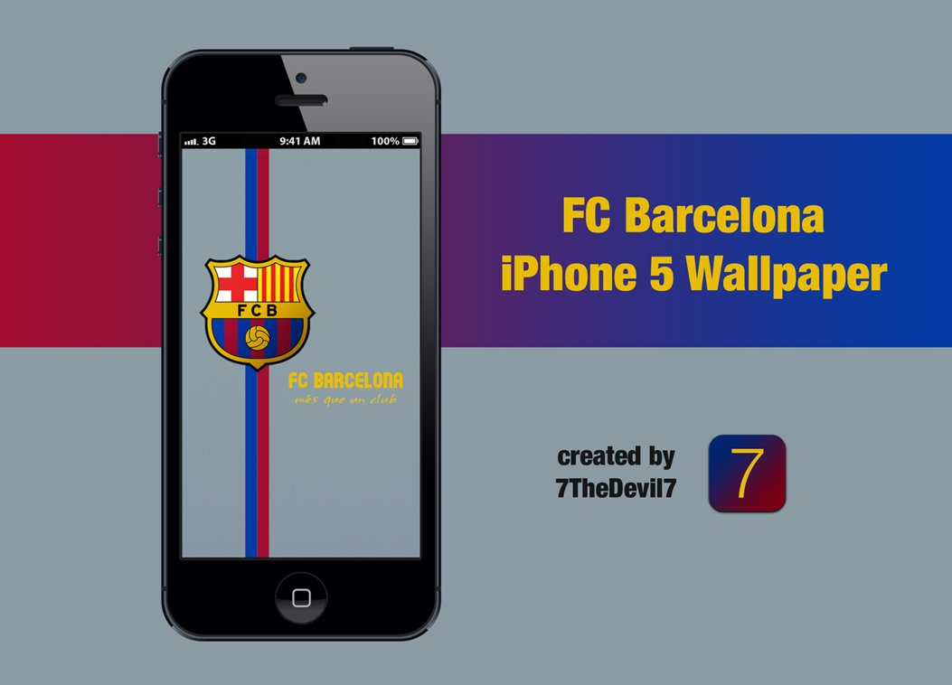 FC Barcelona iPhone 5 Wallpaper by 7TheDevil7 1053x758