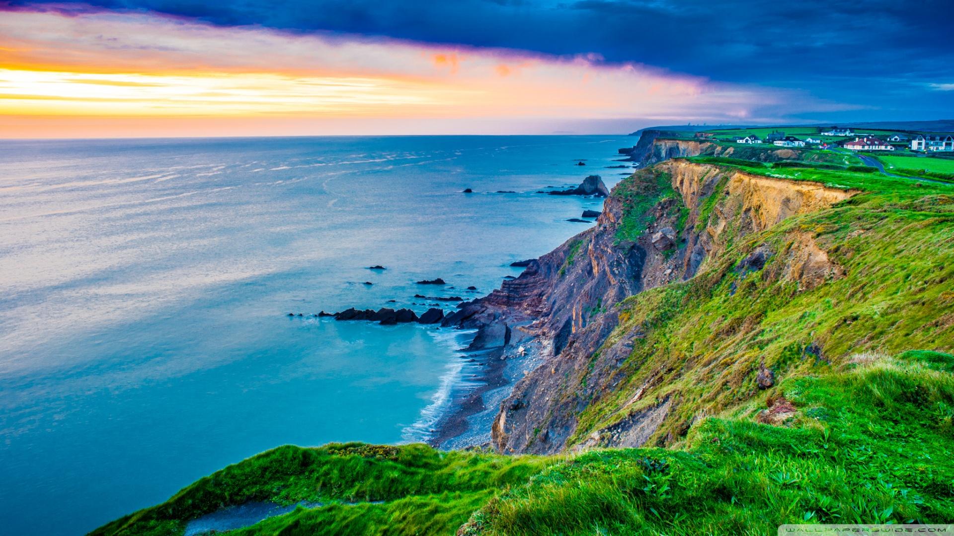 Coast Cornwall England United Kingdom 4K HD Desktop 1920x1080