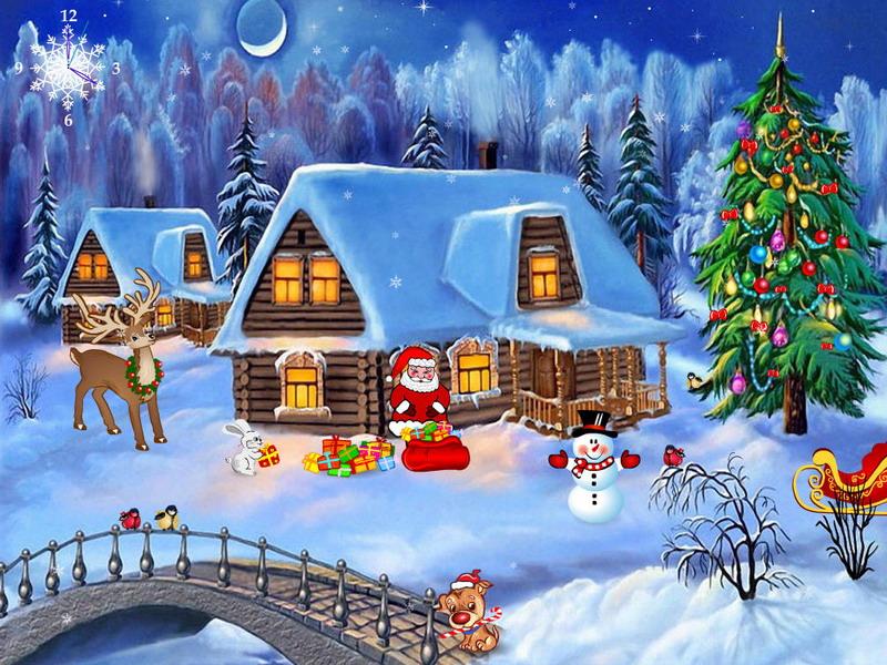 Cartoon Christmas Screensaver Wallpaper in Pixels 800x600