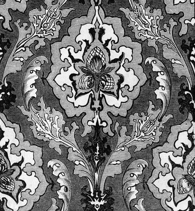 Illustration Woollams Co Wallpaper panel design 1851 779x841