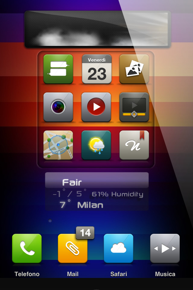 Homepage All iPhone Themes Animated HS AnimatedWeather iPhone 4S theme 640x960