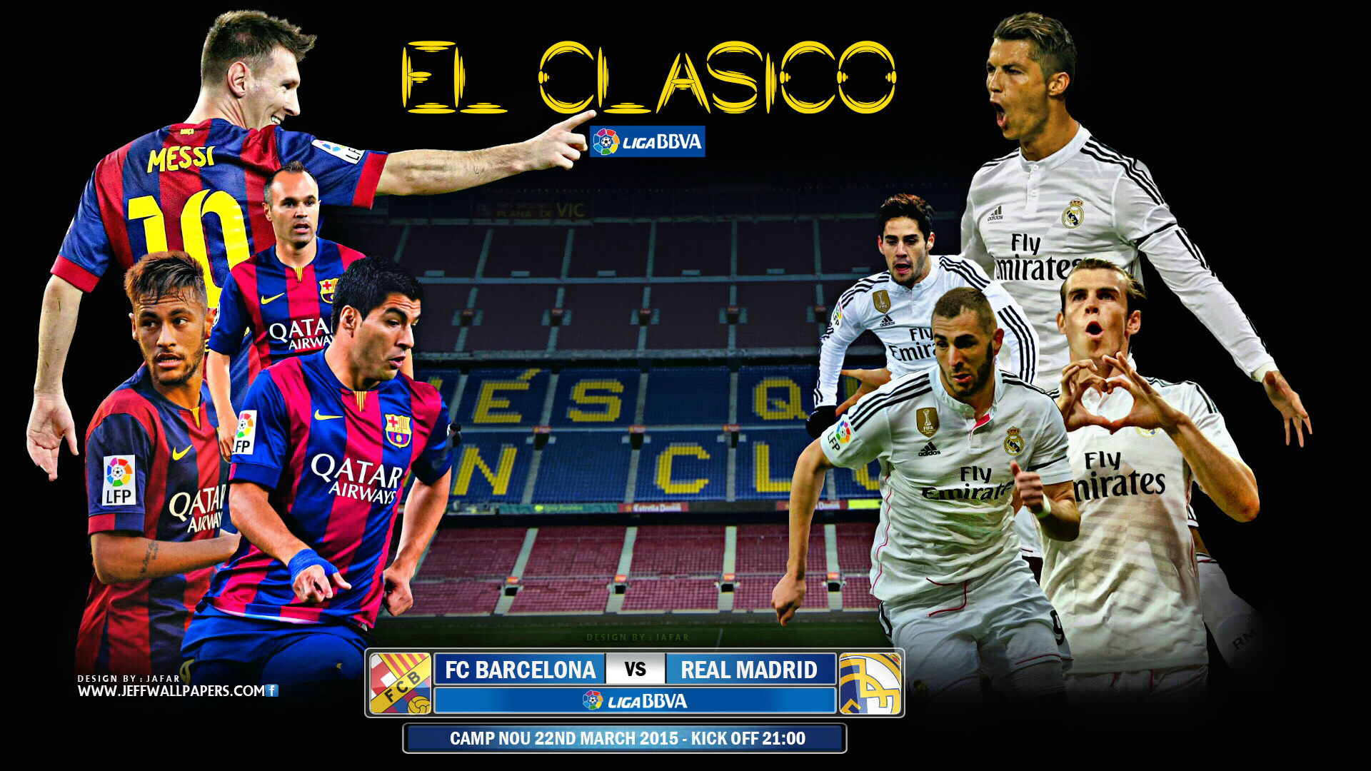FC Barcelona vs Real Madrid El Clasico 22 March 2015 Camp Nou HD 1920x1080