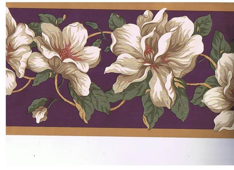 MAGNOLIA FLOWER WALLPAPER BORDER 800x582