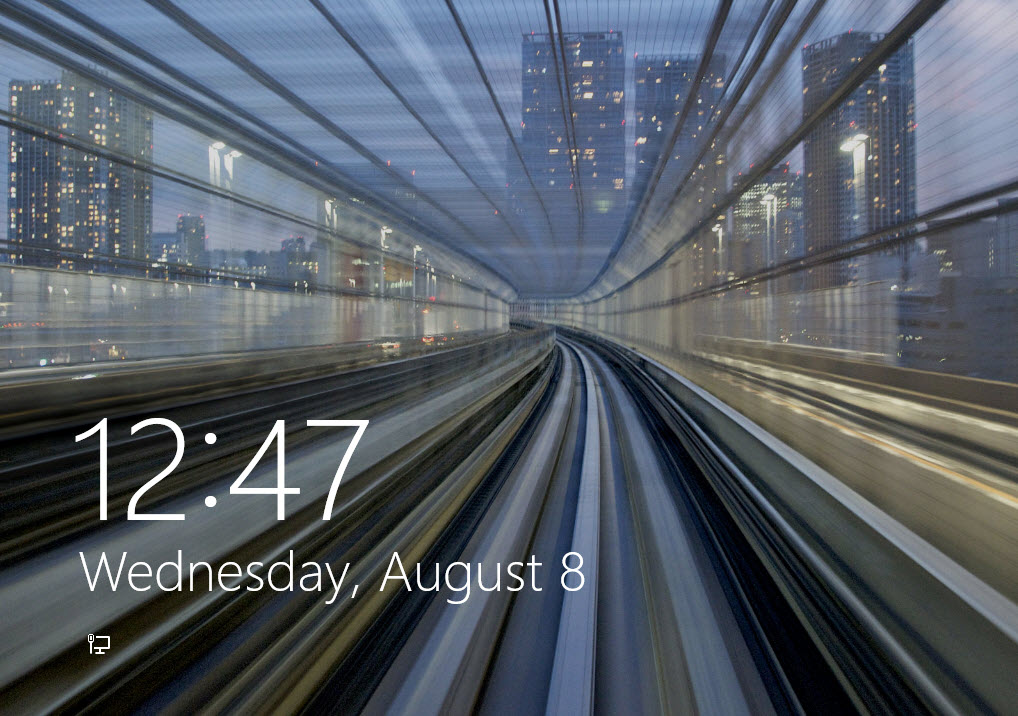 Windows 8 Lock Screen and Start Screen 1018x716