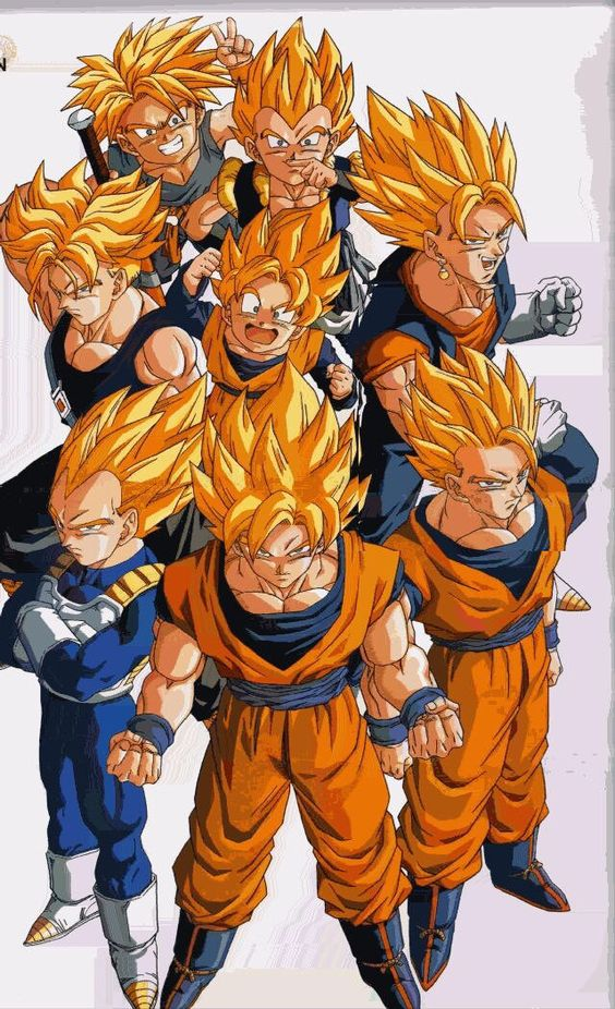The Saiyans picha The Super SaiyansGokuVegetaGohanGogetaGoten 564x926