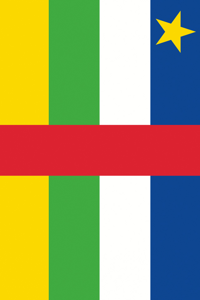 Central African Republic Flag iPhone Wallpaper HD 640x960