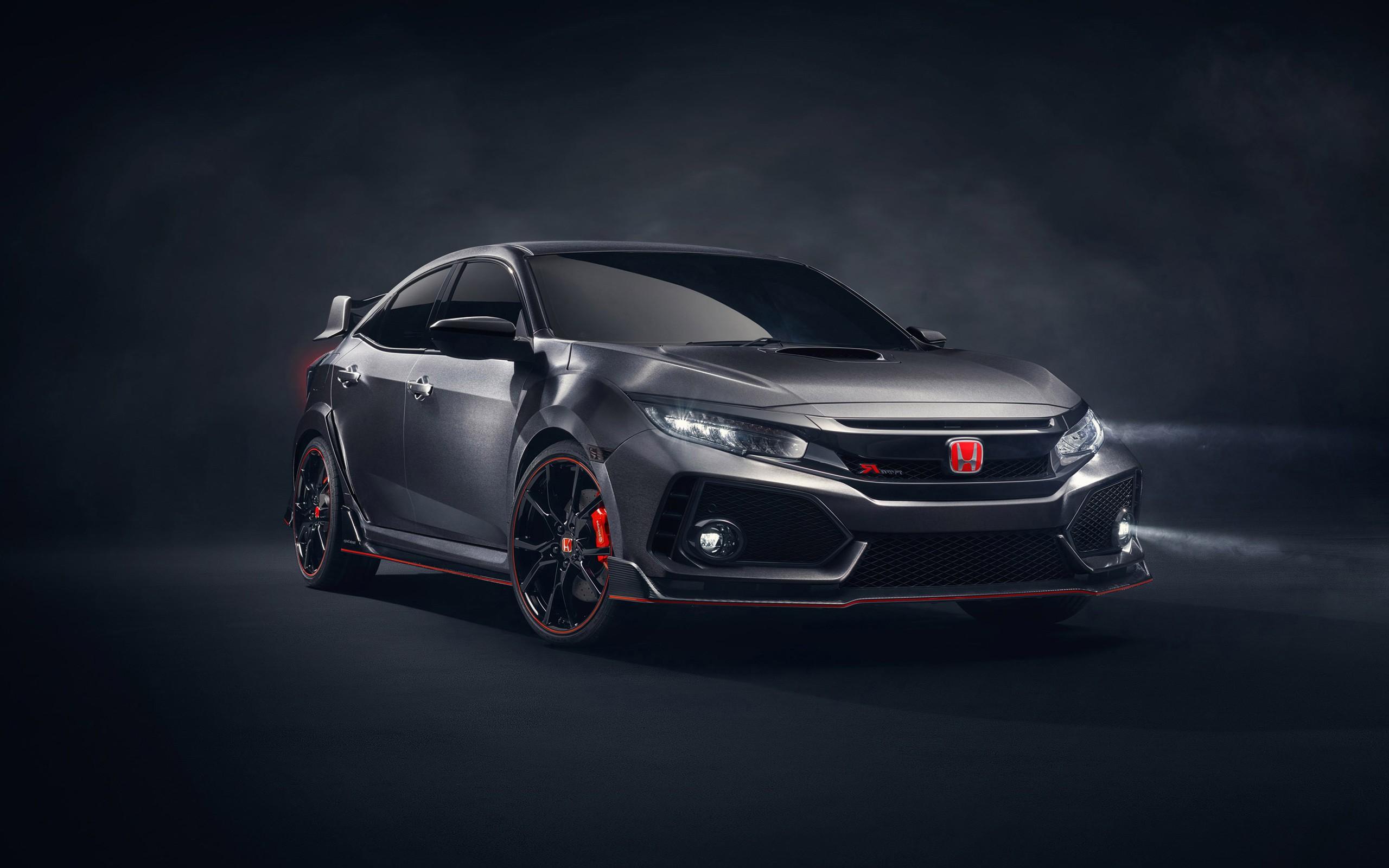 2017 Honda Civic Type R Black Car   New HD Wallpapers 2560x1600