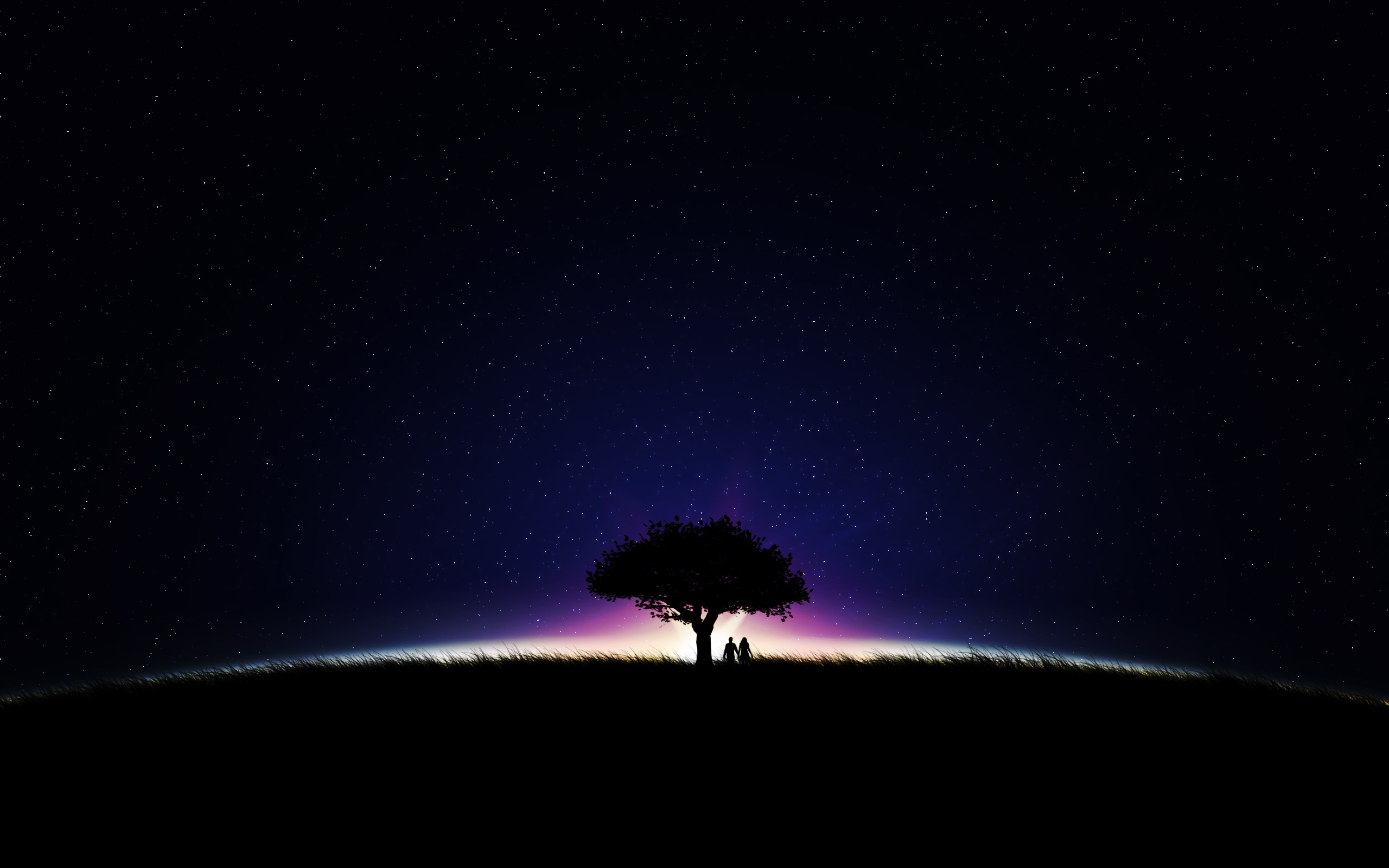 Stars in the night sky wallpapers and images   wallpapers pictures 2560x1600