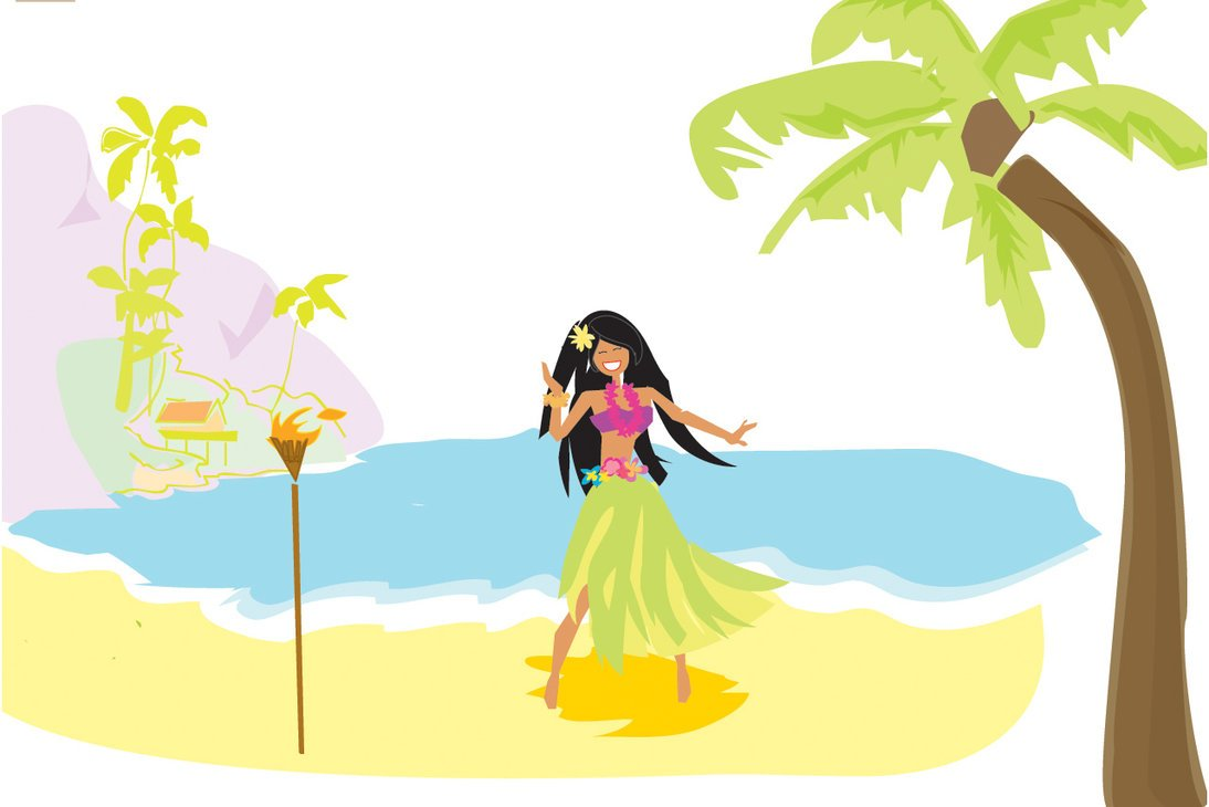 Hula girl by alinney 1094x730