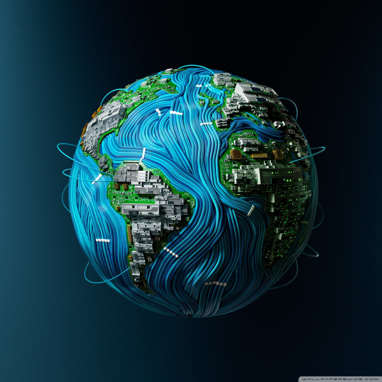 High Tech Earth Ultra HD Desktop Background Wallpaper for 4K UHD 1280x1280