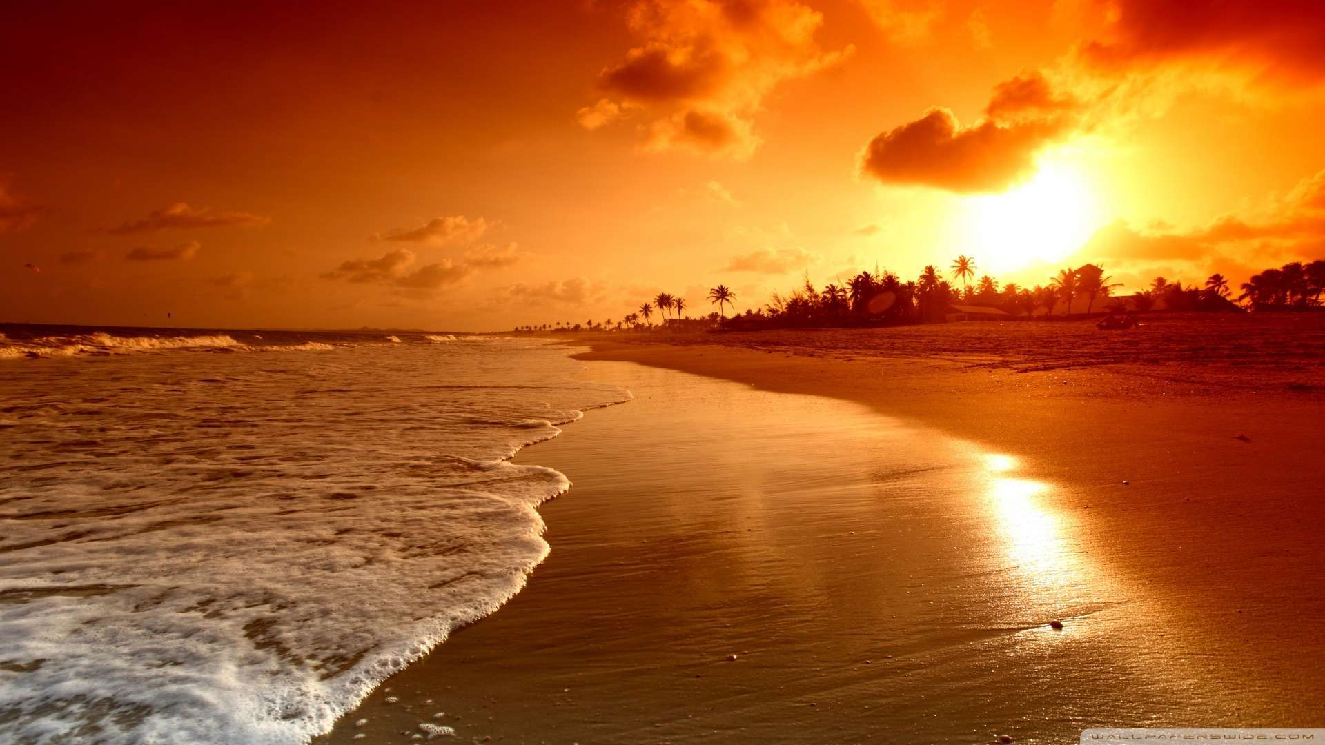 Wallpaper Beach Sunrise Wallpaper 1080p HD Upload at February 2 1920x1080