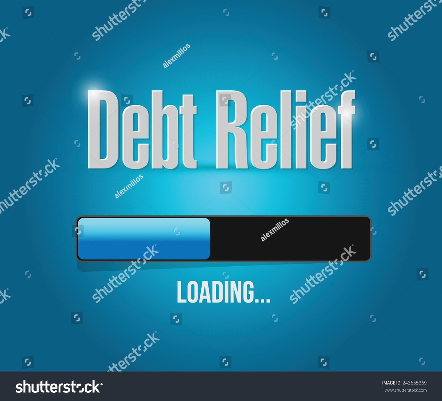 Debt Relief Loading Bar Illustration Design Stock Vector Royalty 1500x1360