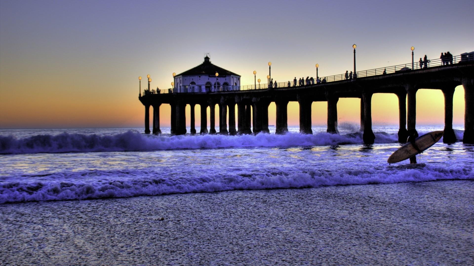 Pier In Los Angeles 1920x1080