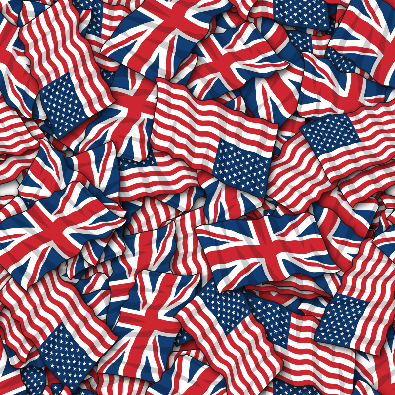 more British American friendship flag background pattern 800x800