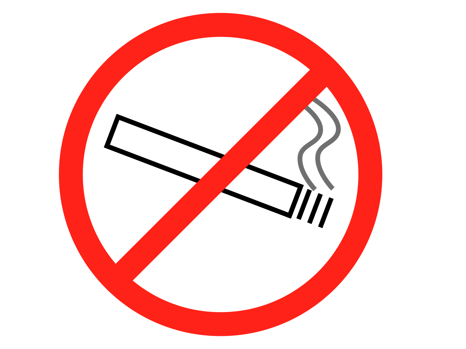No Smoking PPT Template   PPT Backgrounds Templates 1600x1200