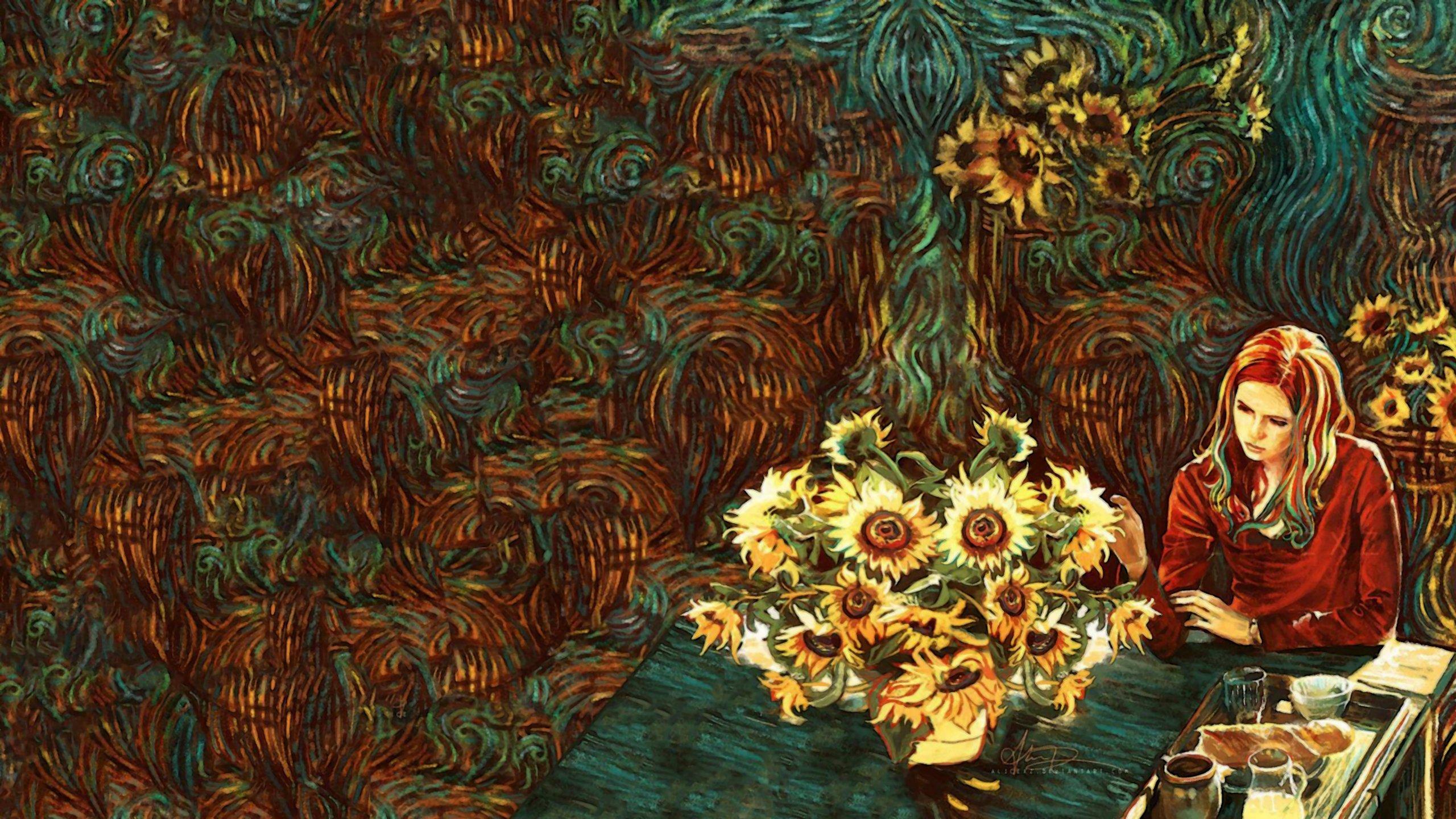 Amy Pond Van Gogh wallpaper 2560x1440 395493 WallpaperUP 2560x1440