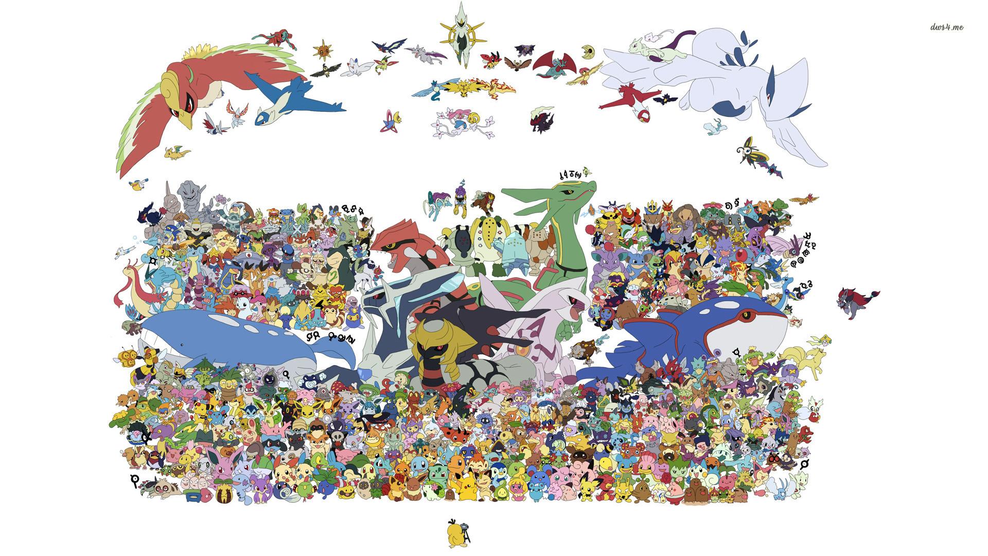 Pokemon group photo wallpaper 1280x800 Pokemon group photo wallpaper 1920x1080