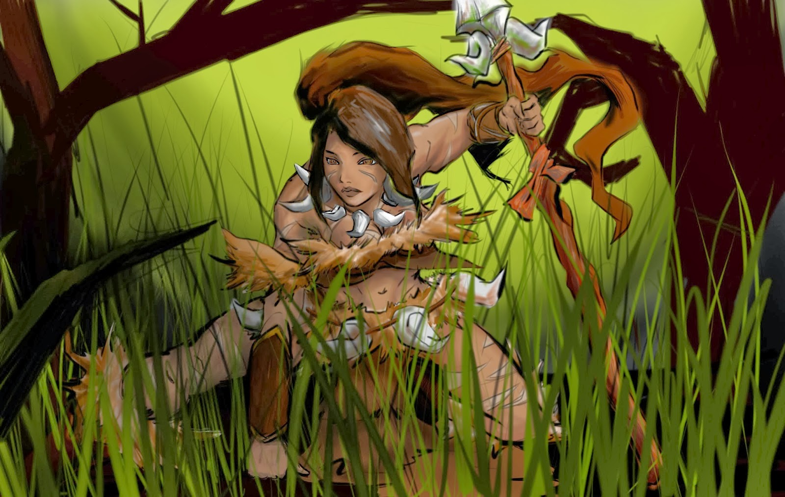 Nidalee League of Legends Wallpaper Nidalee Desktop Wallpaper 1600x1013