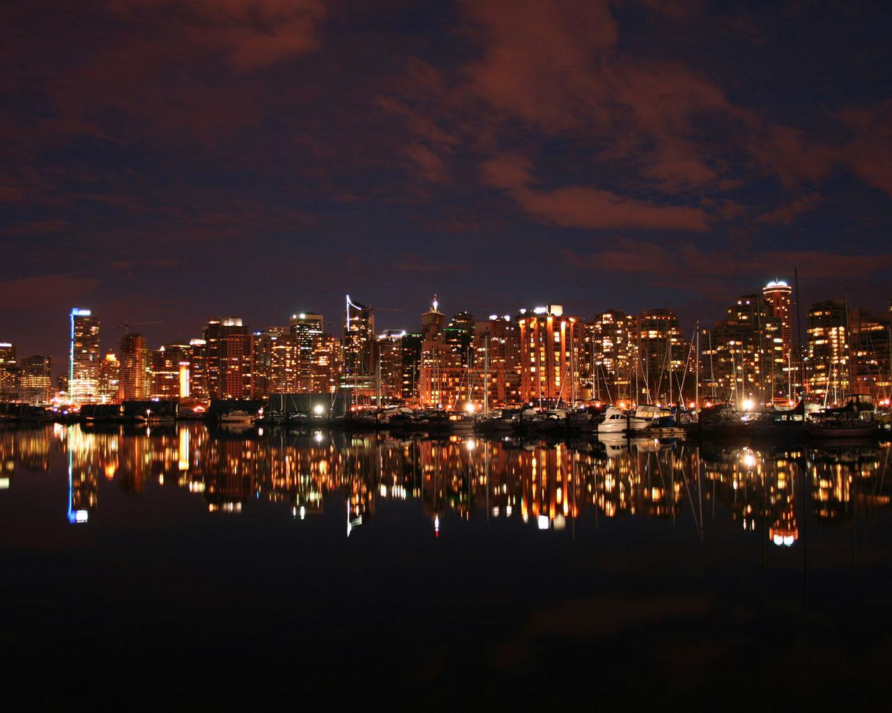 Vancouver   Night Skyline from Stanley Park 1280x1024 Wallpaper 1 1280x1024