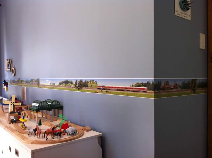wallpaper border   Train World 700x522