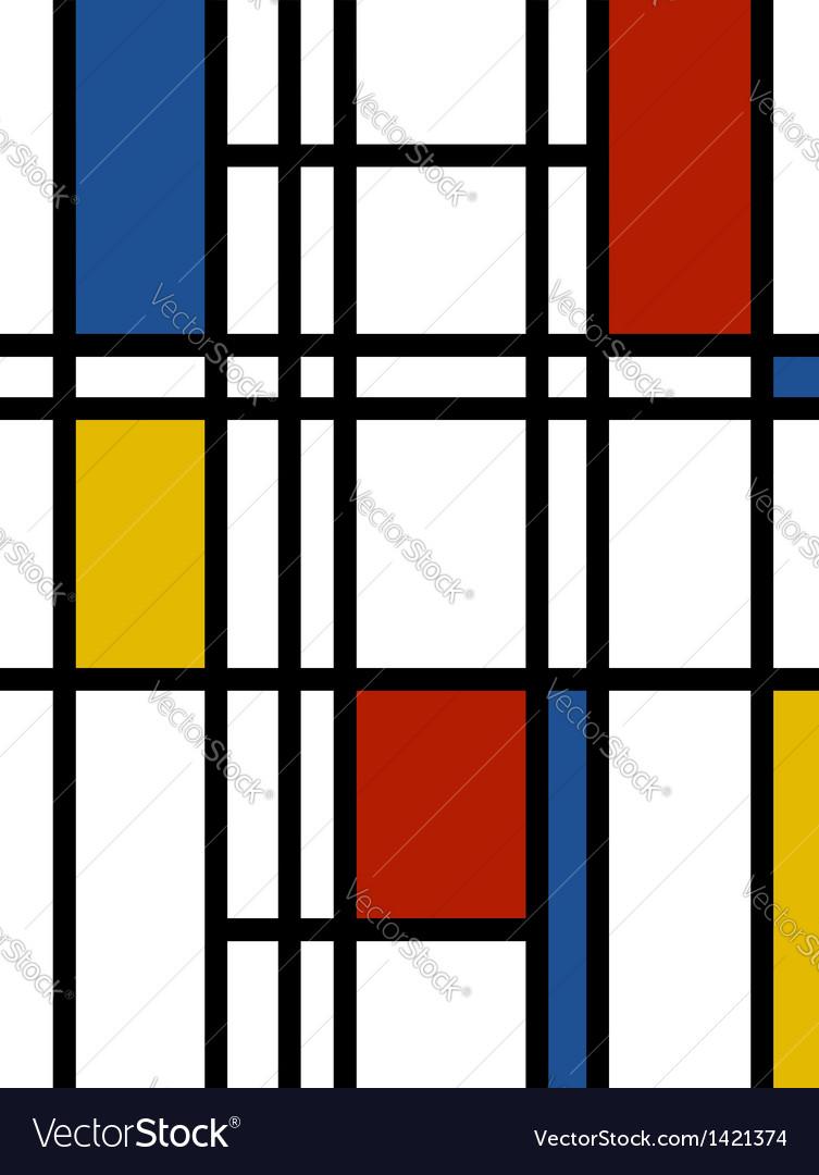 Mondrian background retro print Royalty Vector Image 753x1080