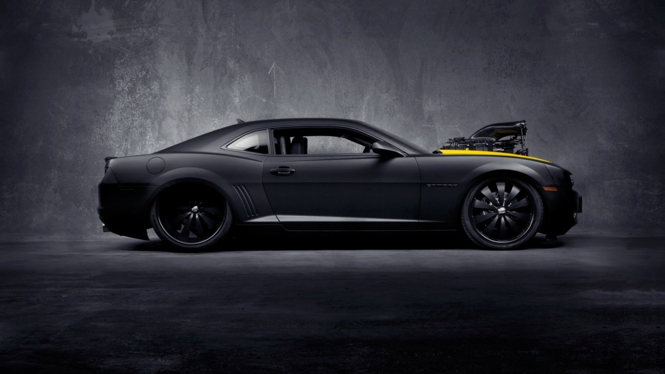 Black Chevy Camaro Wallpaper 4645 Hd Wallpapers in Cars   Imagescicom 1366x768