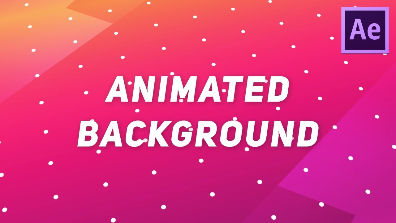 Create Animated Background in After Effects No Plugins Required 1280x720