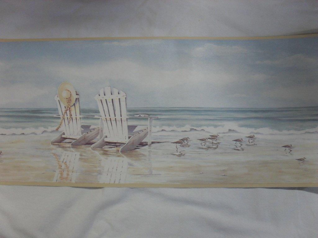 Imperial Seaside Beach Design Wallpaper Border 1024x768