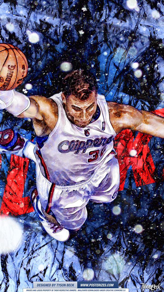 Blake Griffin XMAS Wallpaper Posterizes NBA Wallpapers 640x1136