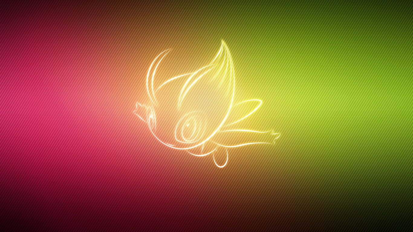 Download Wallpaper 1366x768 pokemon form celebi laptop 1366x768 HD 1366x768