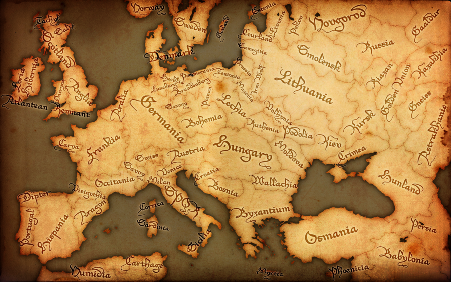 Fantasy Europe Map   Medieval by GTD Orion 900x563