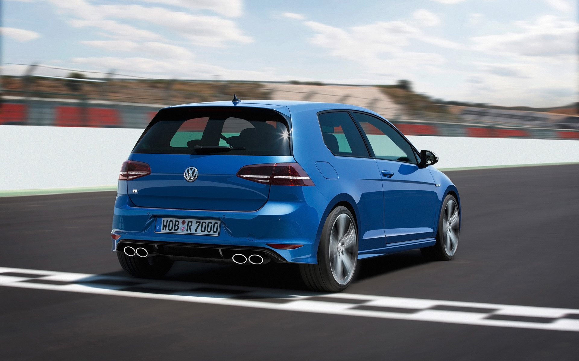 Volkswagen Golf R Wallpaper 2014 Heckansicht Auspuff Auto Tuning 1920x1200