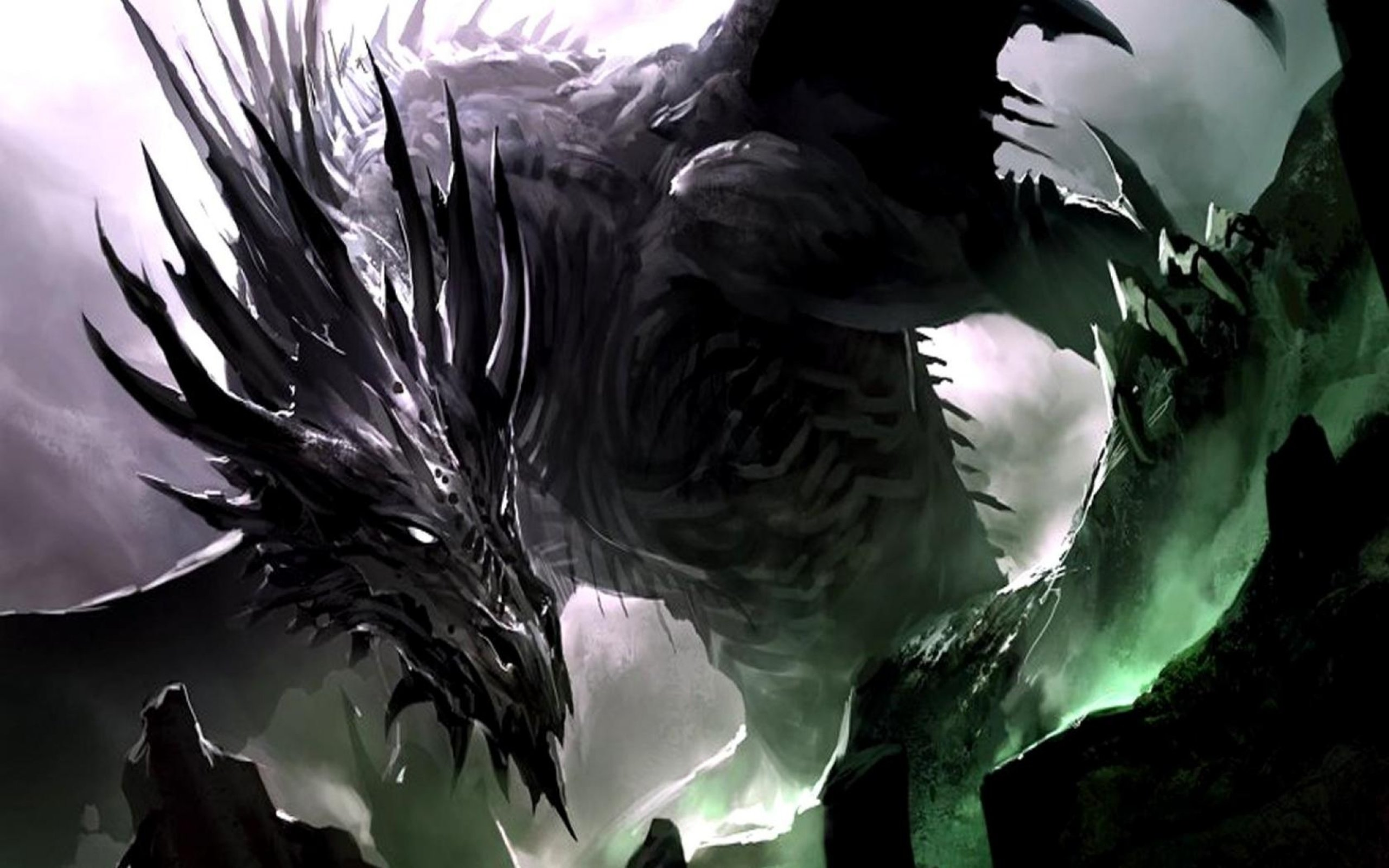 Black Dragon Cool Backgrounds Wallpapers 10132   Amazing Wallpaperz 2560x1600