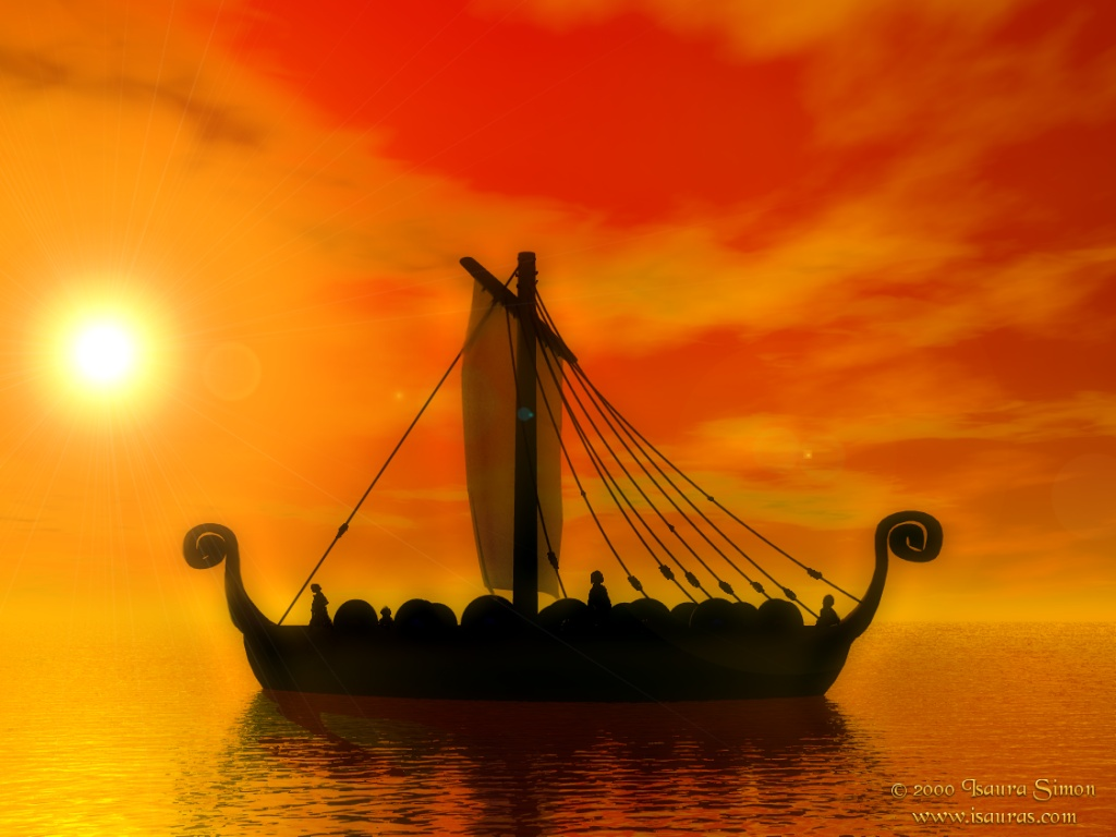Viking Ship Art Wallpaper Images Pictures   Becuo 1024x768