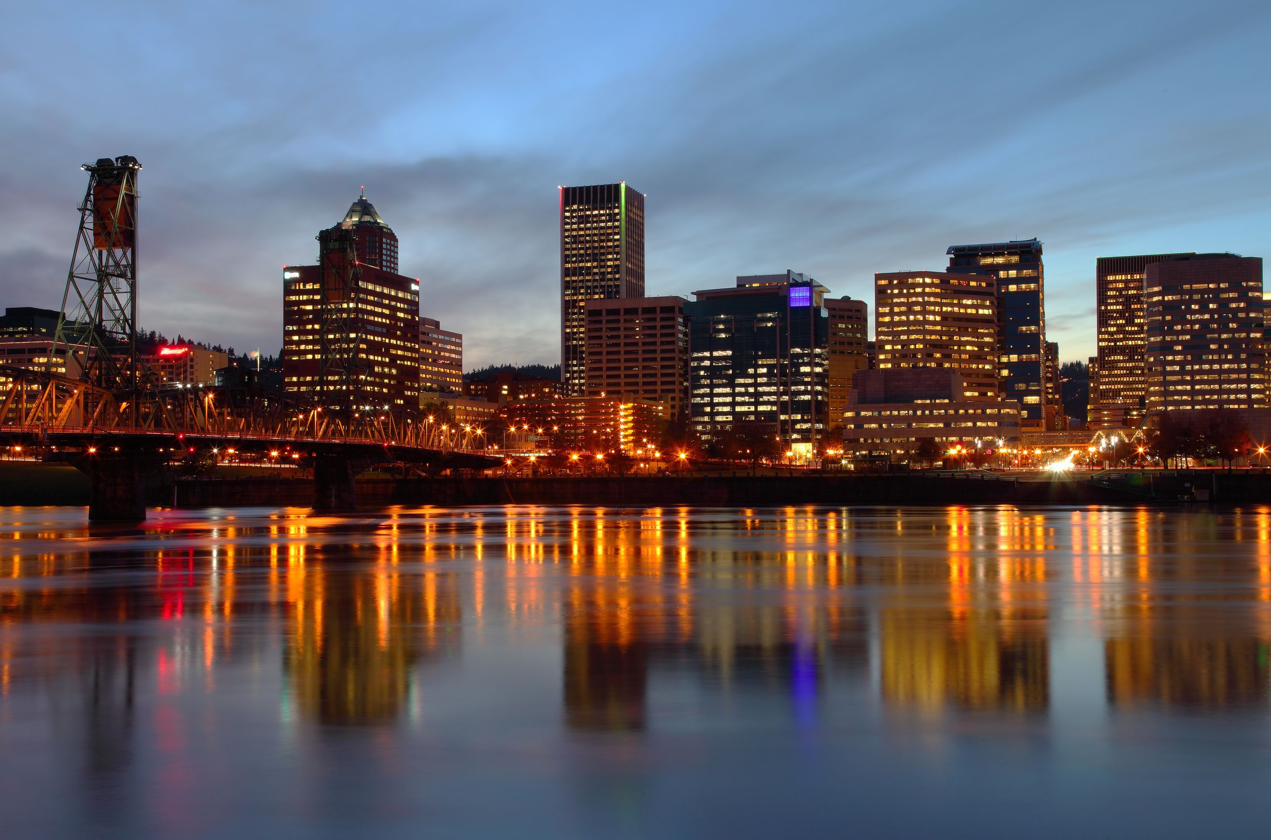 Portland Skyline Wallpaper - WallpaperSafari