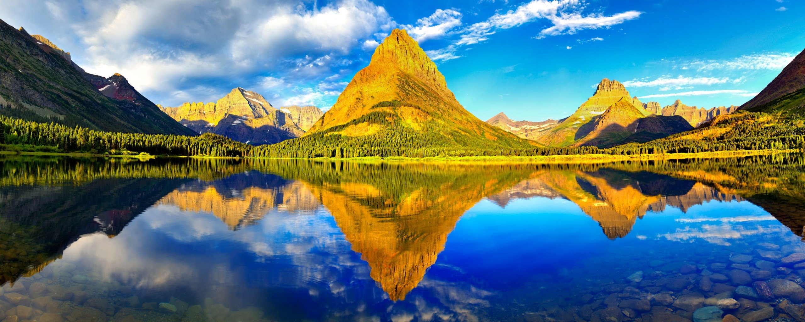 Glacier National Park Dual Monitor Wallpapers HD Wallpapers 2560x1024
