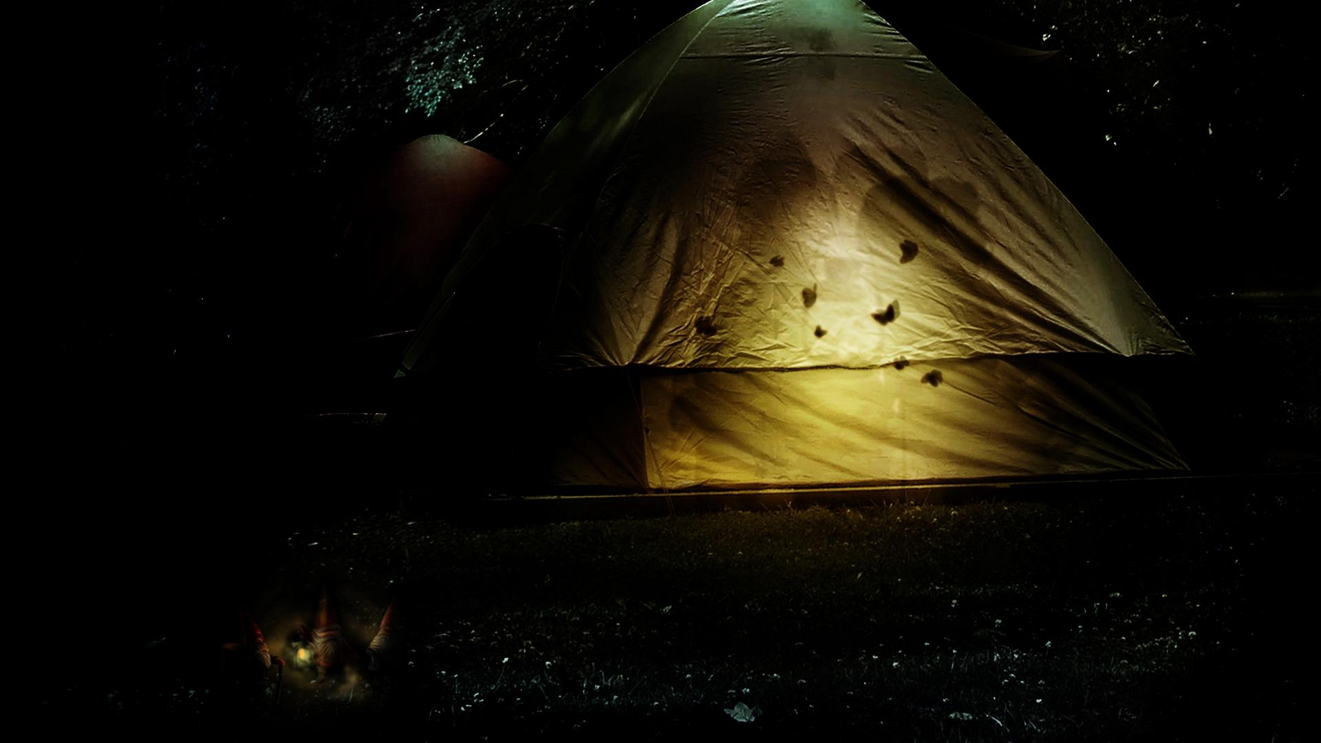 Tents camping moths gnomes children tent lantern wallpaper 37851 1920x1080