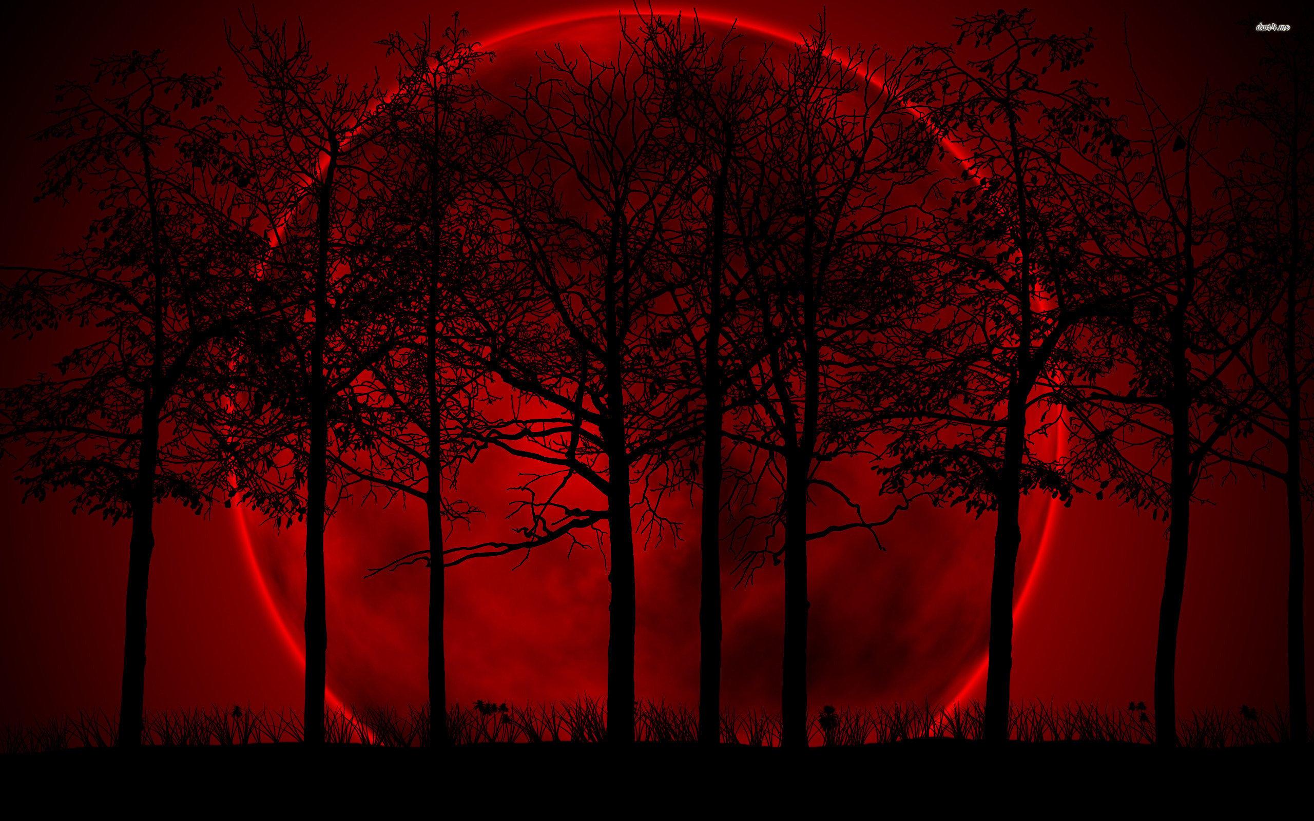 red moon wallpaper wallpapersafari