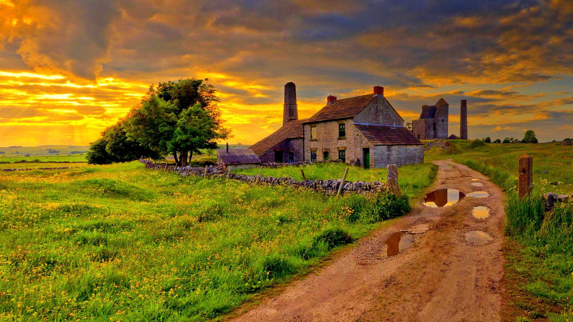 Old Farm After A Storm Hdr Hd Wallpaper Wallpaper List 1920x1080