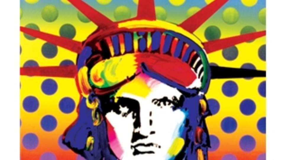polka dot background adds pop to Maxs painting Liberty Head 960x540