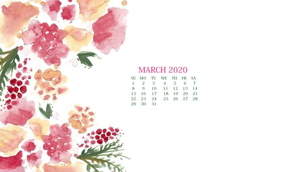 March 2020 Calendar Wallpaper For Desktop Laptop iPhone 1024x583