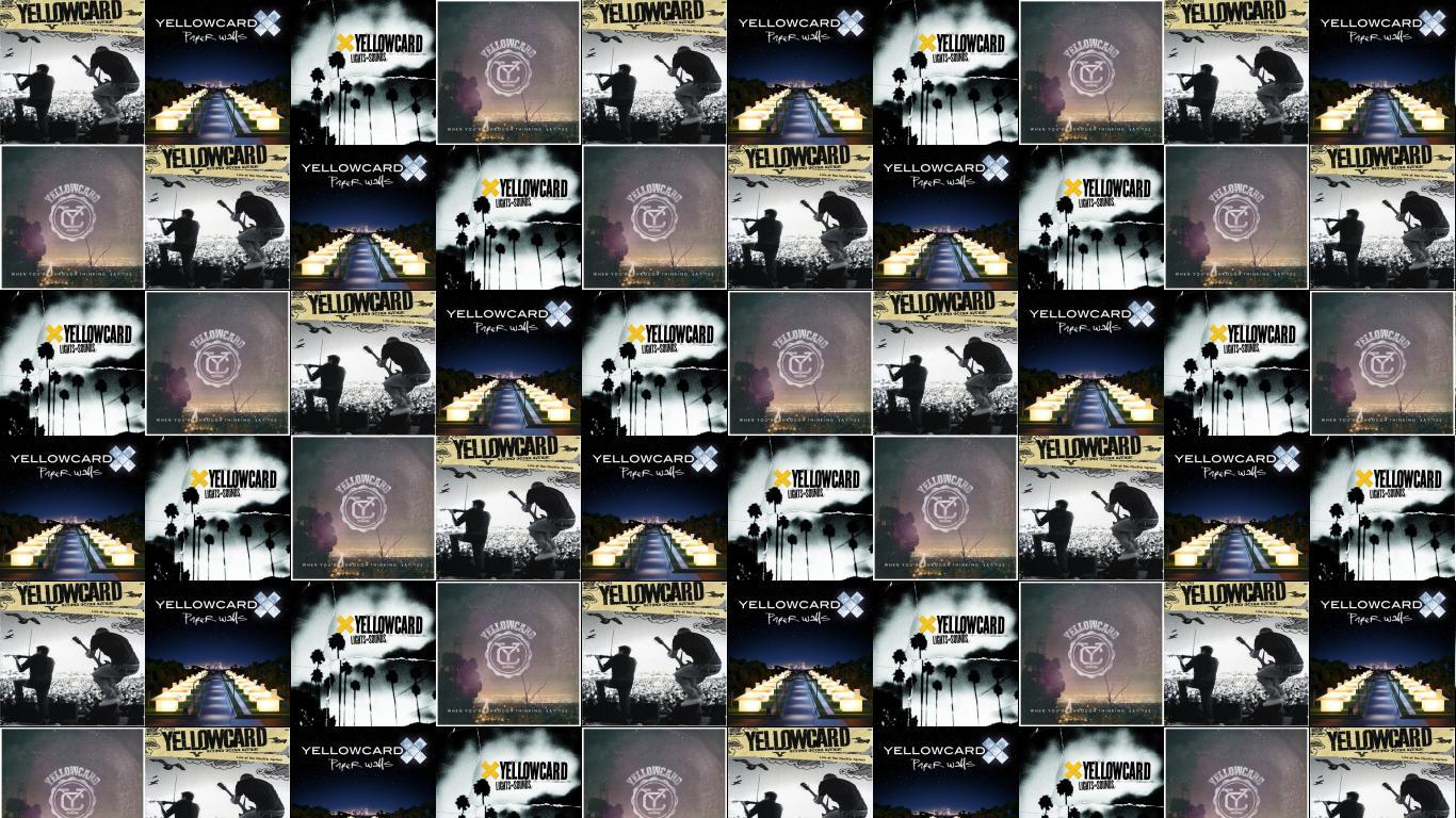 Yellowcard Ocean Avenue Yellow Card Paper Walls Lights Wallpaper 1366x768